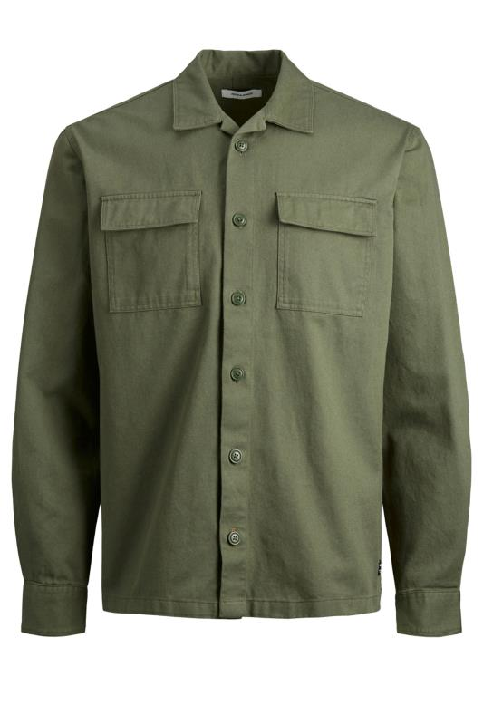 Plus Size Casual / Every Day JACK & JONES Khaki Utility Overshirt