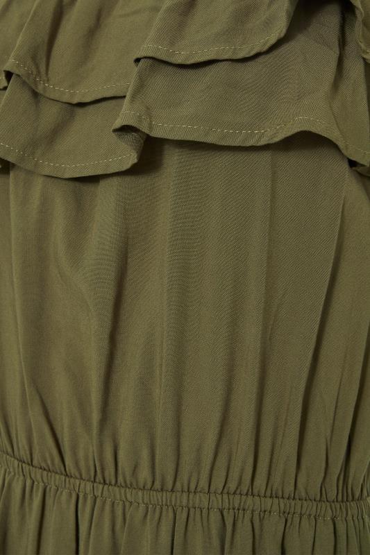 LTS Khaki Double Frill Bardot Midi Dress_S.jpg
