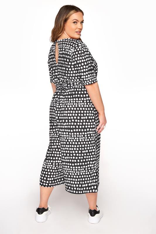 YOURS LONDON Black Polka Dot Culotte Jumpsuit_C.jpg