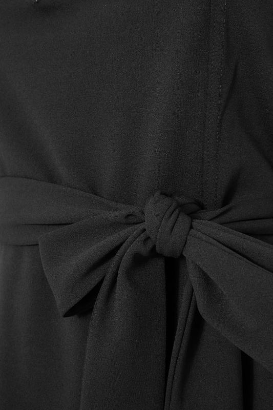 YOURS LONDON Black Notch Neck Belted Peplum Top_S.jpg