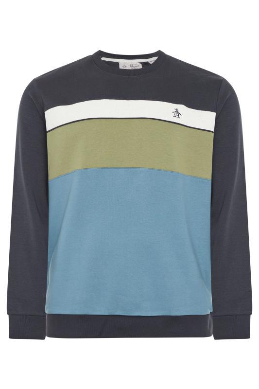Plus Size  PENGUIN MUNSINGWEAR Navy Colourblock Sweatshirt