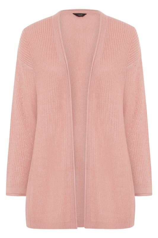 Dusky Pink Knitted Pointelle Cardigan_F.jpg
