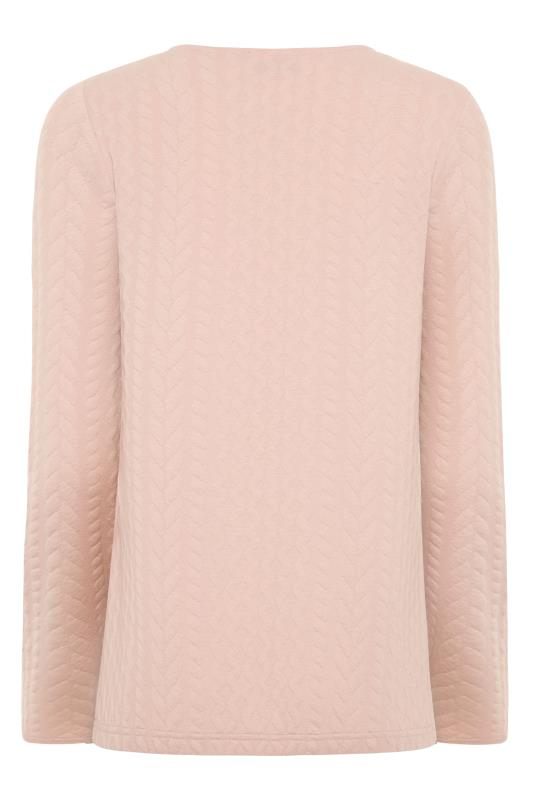 LTS Pink Cable Print Co-ord Sweatshirt