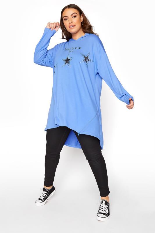 Blue Star Print Tunic Hoodie_B.jpg