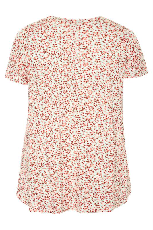 LIMITED COLLECTION White and Red Floral Swing Top_BK.jpg