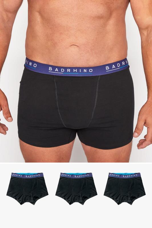 Men's  BadRhino Black Essential 3 Pack Boxers