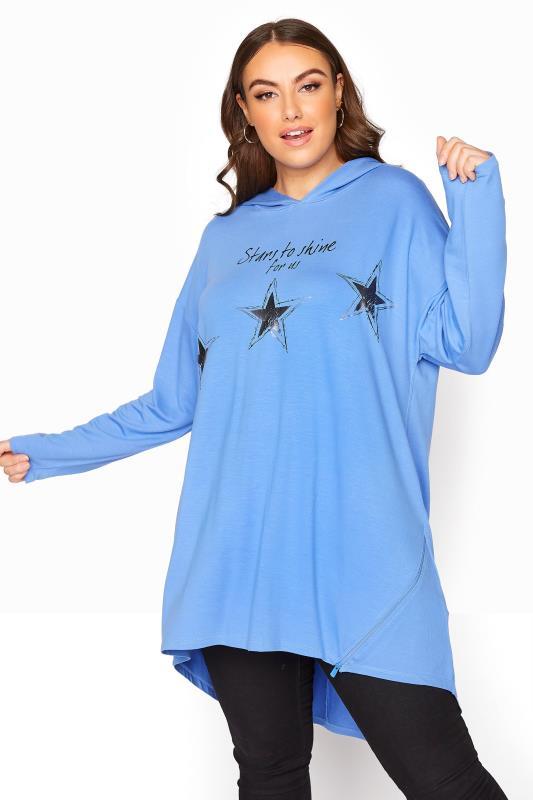 Blue Star Print Tunic Hoodie_D.jpg
