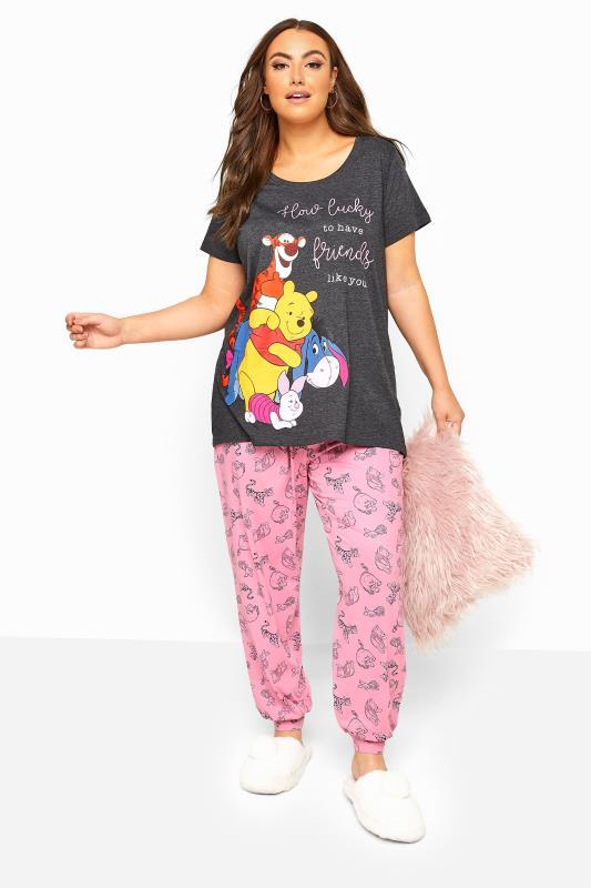 Großen Größen  Grey Disney Winnie The Pooh Pyjama Set