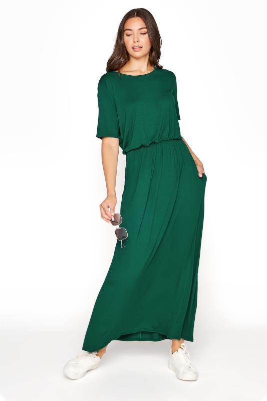 LTS Forest Green Pocket Midaxi Dress_B.jpg
