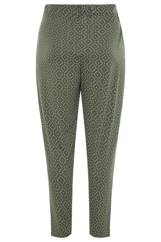 Khaki Diamond Print Harem Trousers_BK.jpg
