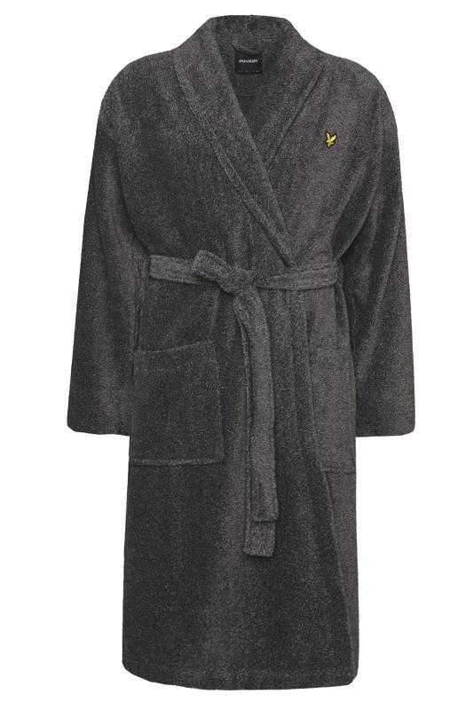 Men's  LYLE & SCOTT Charcoal Lucas Dressing Gown