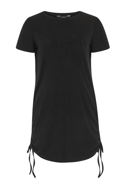 LTS Black Ribbed Ruched Side Tunic_F.jpg