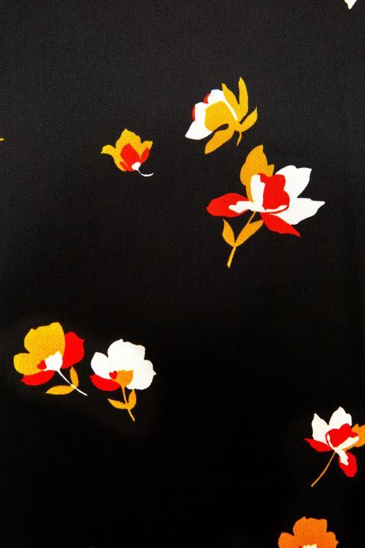 Black Floral V-Neck Shift Dress_S.jpg