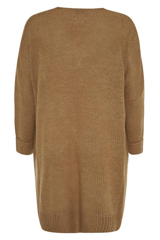 Camel Drop Sleeve Knitted Jumper Dress_BK.jpg