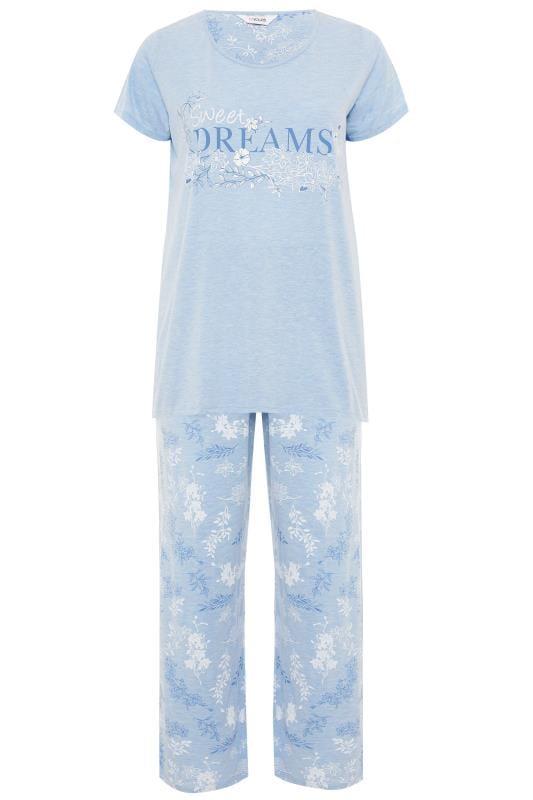 Blue Marl Glitter Sweet Dreams Pyjama Set