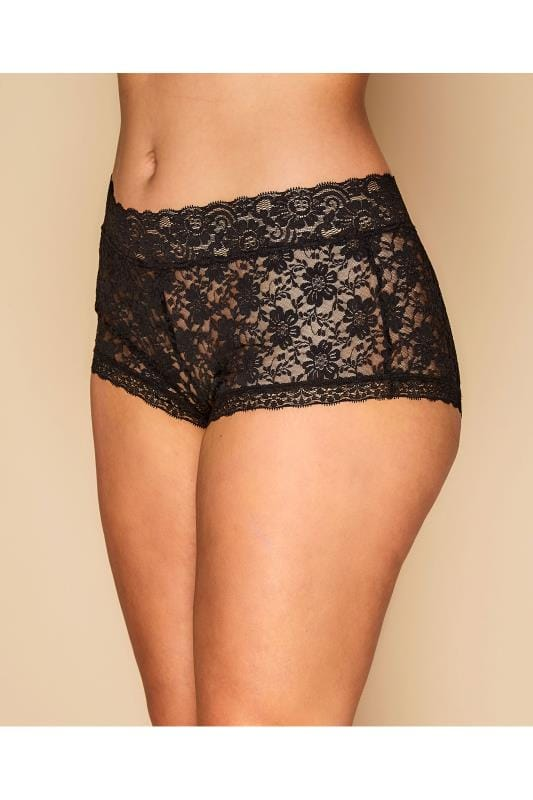 Большие размеры | Multi Value Packs 2 PACK Black Lace Shorts