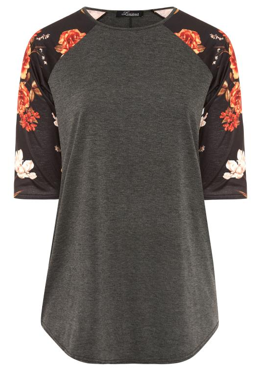 LIMITED COLLECTION Charcoal Floral Top_F.jpg