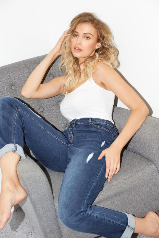 LTS Blue Ripped Mom Jeans