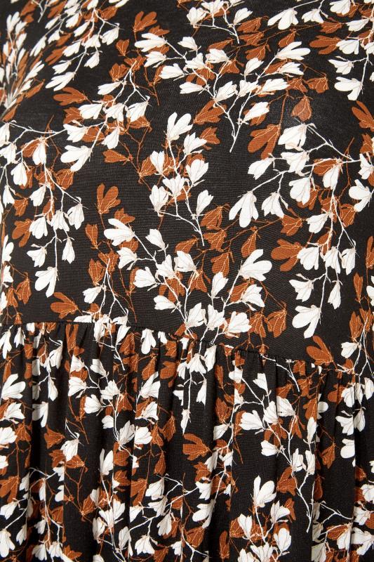 Black Floral Print Pocket Midaxi Dress_S.jpg