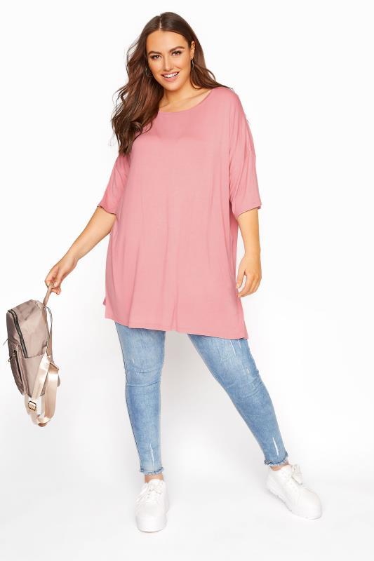 Rose Pink Oversized T-Shirt_B.jpg