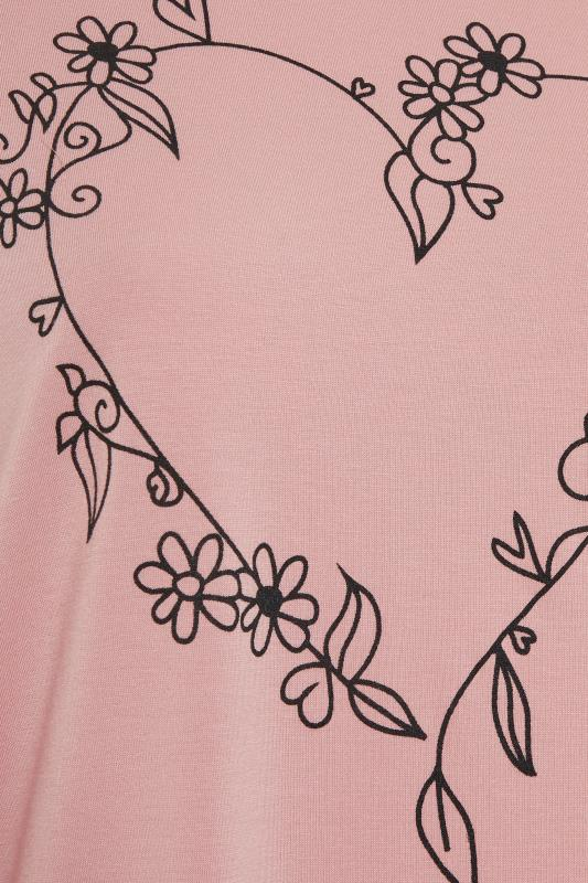 LIMITED COLLECTION Blush Pink Heart Print T-Shirt_s.jpg