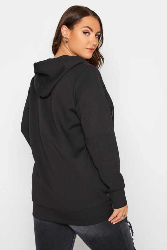 Black Colour Block Super Sweat PU Zip Hoodie_C.jpg