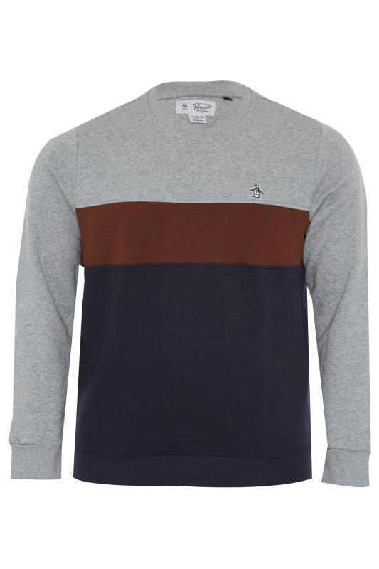 Plus Size  PENGUIN MUNSINGWEAR Grey Colourblock Sweatshirt