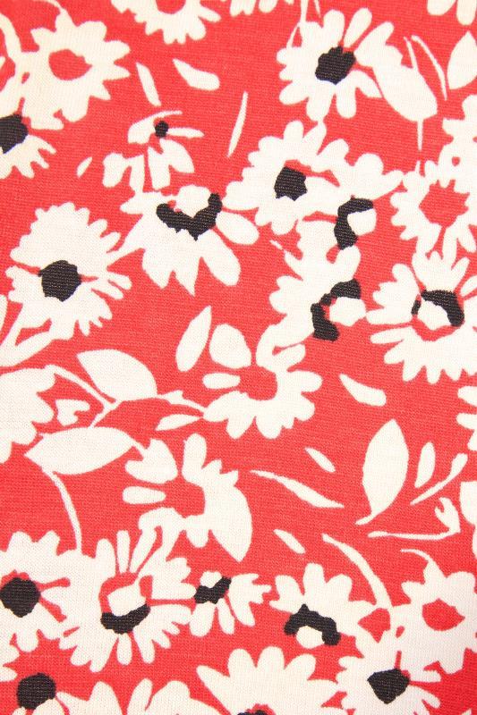 Coral Floral Sleeveless Drape Pocket Dress_S.jpg