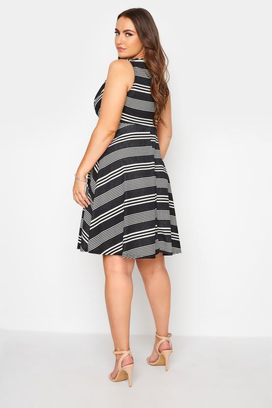 Black Stripe Wrap Skater Dress_C.jpg