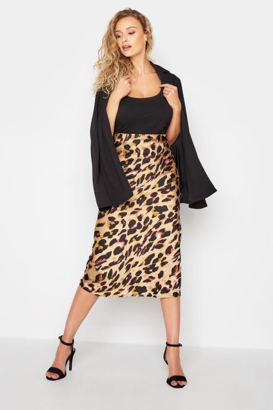 Tall  LTS Natural Animal Print Skirt