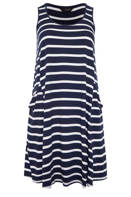 Navy Stripe Drape Pocket Dress_f.jpg