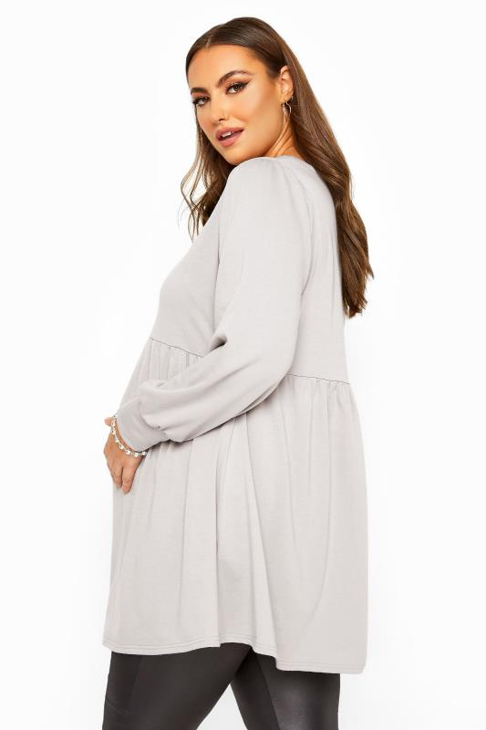BUMP IT UP MATERNITY Grey Peplum Sweatshirt