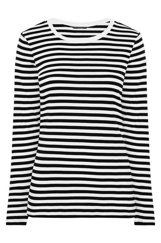 Black & White Stripe Long Sleeve Top_F.jpg