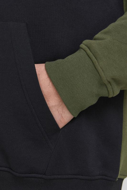 JACK & JONES Green Colour Block Hoodie_S2.jpg