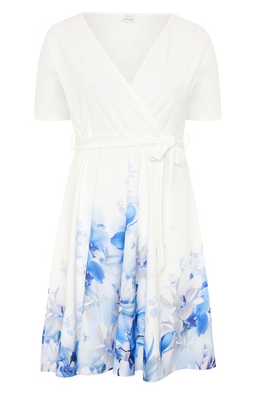 YOURS LONDON White Floral Border Skater Dress_F.jpg