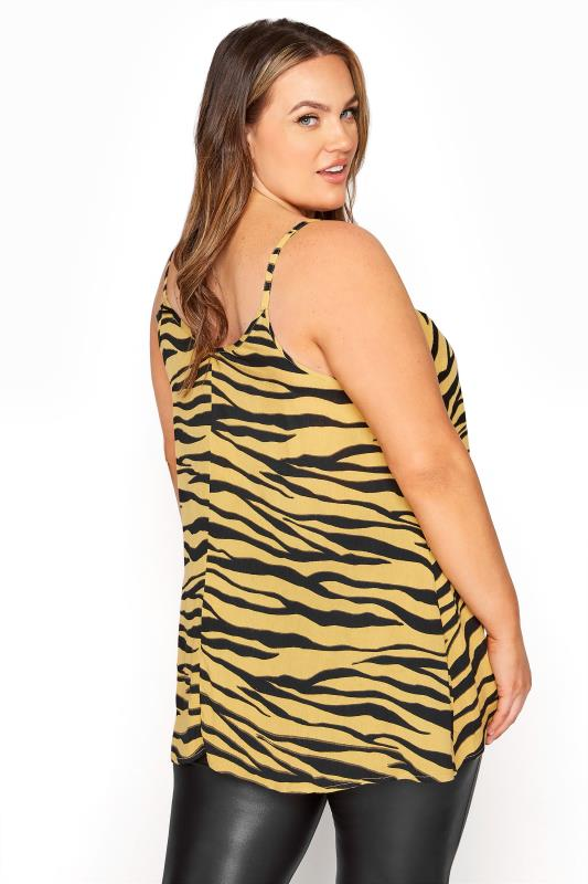 LIMITED COLLECTION Mustard Yellow Zebra Strappy Swing Cami_C.jpg