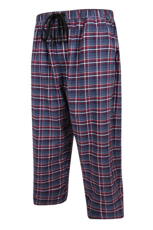 Großen Größen  ESPIONAGE Blue Brushed Check Lounge Trouser