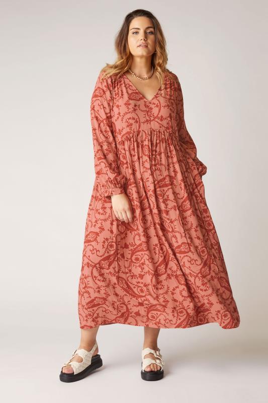 THE LIMITED EDIT Pink Paisley Boho Maxi Dress_B.jpg