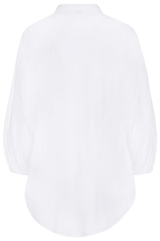 LTS White Balloon Sleeve Cotton Shirt_bk.jpg