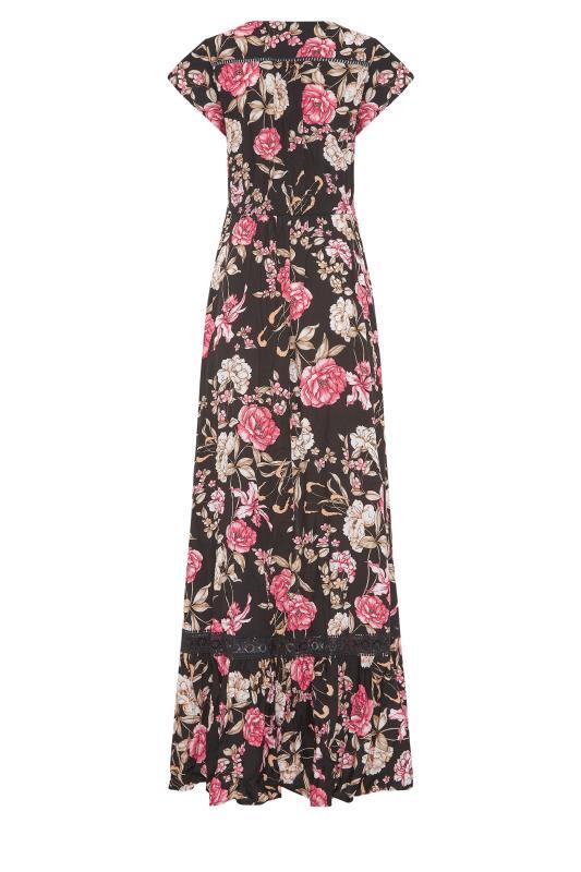 LTS Black Floral V-Neck Frill Hem Maxi Dress_bk.jpg