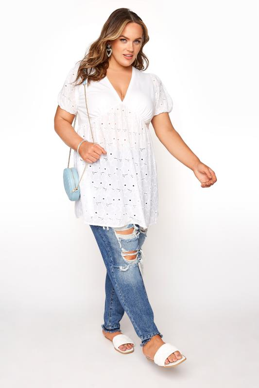 LIMITED COLLECTION White Anglaise Peplum Top_B.jpg