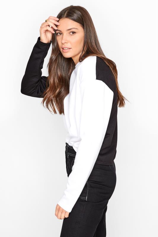 LTS White Colour Block Sweatshirt