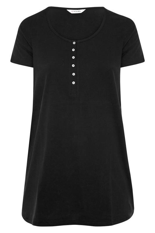Black Button Scoop Neck Pyjama Top_F.jpg