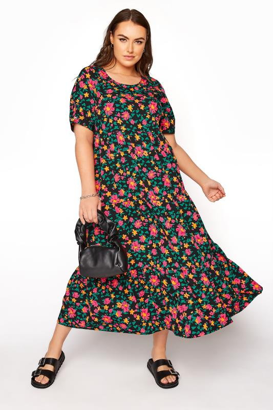 LIMITED COLLECTION Black Floral Tiered Maxi Dress_B.jpg