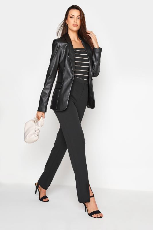 LTS Black Faux Leather Blazer_B.jpg