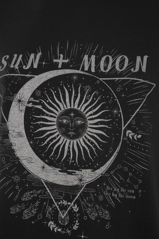 LIMITED COLLECTION Black Sun & Moon Graphic Print T-Shirt_S.jpg