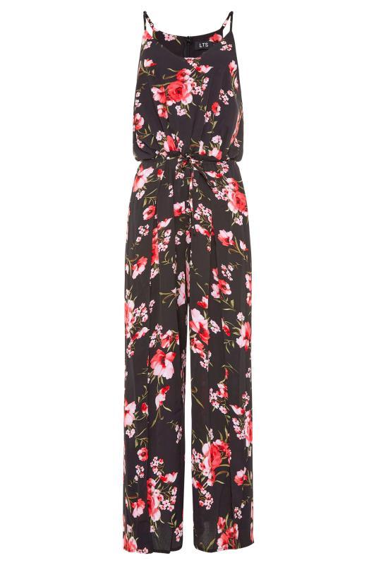 LTS Black Floral Wide Leg Strappy Jumpsuit_F.jpg