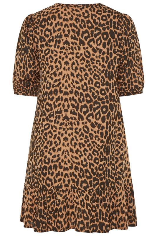 LIMITED COLLECTION Brown Leopard Print Smock Dress