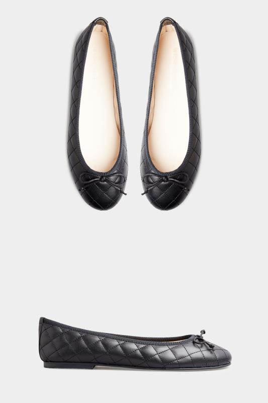 LTS Black Leather Quilted Ballet Pumps_A.jpg