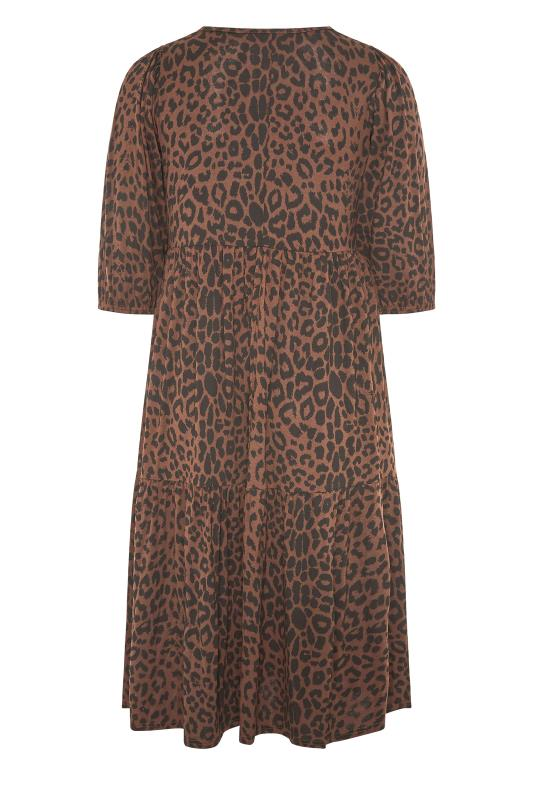 Brown Animal Print Midaxi Dress_BK.jpg